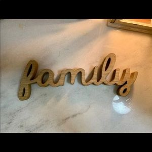 """Hobby Lobby Accents - NWT wooden """"FAMILY"""" Sign"""